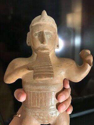Colima Standing Musician Pre Columbian Art Ca. 100 B.C. - 250 A.D. Mexico 4
