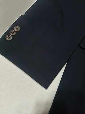 Brooks Brothers 346 navy Wool 3-Button front + sleeve Suit jacket sport coat 41 2