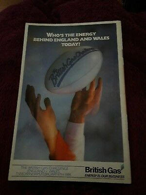 1988-England V Wales-Five Nations-International Rugby Union Programme-Good 3