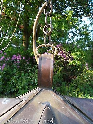A very pretty unusual Vintage French brass lantern (T157) 9