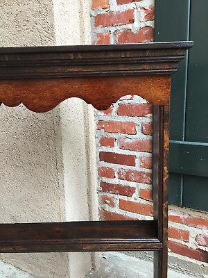 Antique English Carved Tiger Oak Plate Platter Wall Rack Display Shelf Kitchen 6