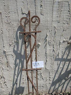 Antique Victorian Iron Gate Window Garden Fence Architectural Salvage Door #659 3