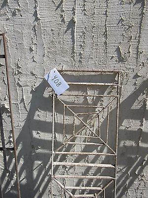 Antique Victorian Iron Gate Window Garden Fence Architectural Salvage Door #408 2