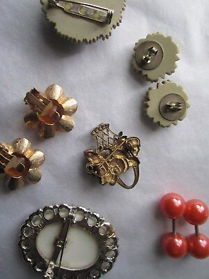 Jewellery various - earrings  and. broaches 3