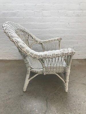Vintage Children's Wicker White Chair, Good Condition! $150 3