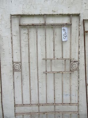 Antique Victorian Iron Gate Window Garden Fence Architectural Salvage Door #88 3