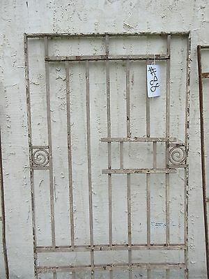 Antique Victorian Iron Gate Window Garden Fence Architectural Salvage Door #88 3