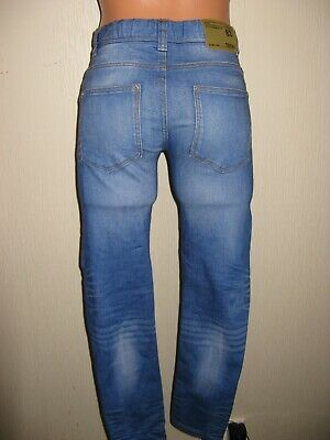 Worn Once Boys Pale Blue Next Skinny Stretch Jeans & Checked Shirt Bundle Age 12 8