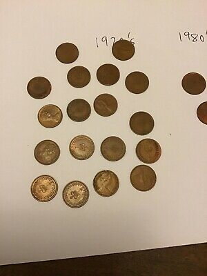 22 British 1/2 Pence Coins : 1970's & 80's. Various Quality. 3