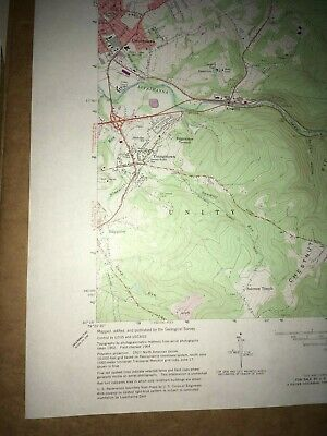 Derry Pa.Westmoreland County USGS Topographical Geological Survey Quadrangle Map 4