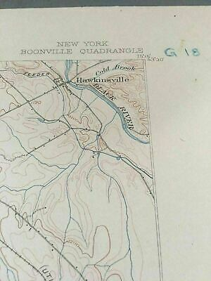 US Geological Survey Topography Map,1904 Quadrangle Boonville , New York 2