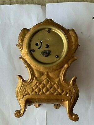 Antique Gilt Gold Footed Germany Clock 3