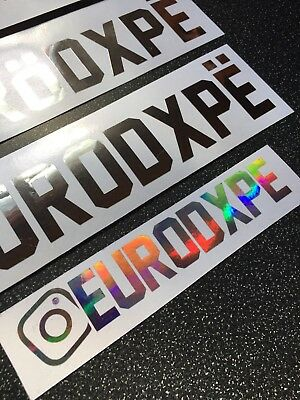 8 of 11 custom stickers made in chrome finishes message for details vw audi bmw 50cm