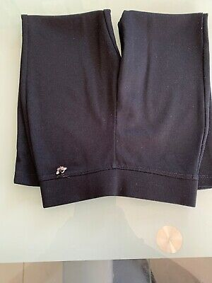 Girls Plain Black Trousers From George Age 5-6 3