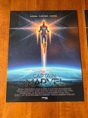 "2 CAPTAIN MARVEL AMC IMAX 8.5"" X 11"" Poster  Photo MARVEL STUDIOS Brie Larson 2"
