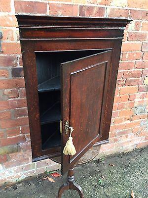 Antique Georgian Dark Oak Corner Cupboard circa 1800 3