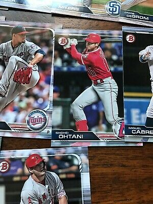 2019 Bowman Complete Base Set 1-100 Trout Aaron Judge Ohtani Acuna Baseball Card 10