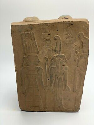ANCIENT EGYPTIAN EGYPT ANTIQUES STATUE Akhenaten and Nefertiti 1345–1337 BCE -R 6