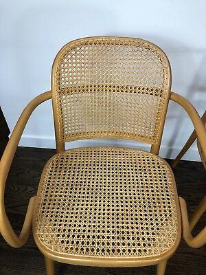 Vintage Four Bentwoodband Vienna Wickerwork Dining Chairs