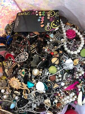 Jewelry Vintage-Modern Huge  Lot Craft, Junk, Wearable, Box 3 FULL POUNDS 4