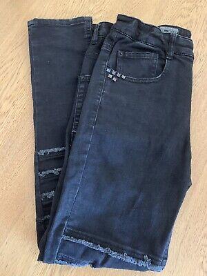 Zara Kids Boys Jeans Size 11/12 Years 152cm Black Skinny 5