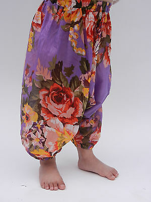 Girls floral harem pants baggy summer hippy boho trousers 1,2,3,4,5,6,7 years 2