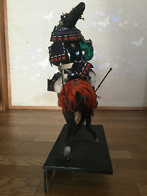 32cm Japanese Antique SAMURAI Armor YOROI Doll MUSHA NINGYO with Horse 5