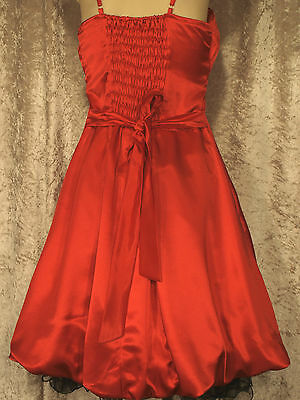 Leaver's Prom Formal Satin 1950's Style Party Dress with Full Gathered Skirt M 6