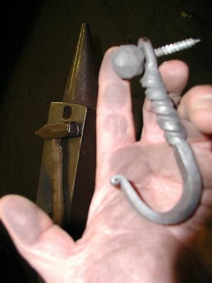 Wrought Iron,Hammered,Medium Ball Head Decorative Wood Screw, by Blacksmiths 2