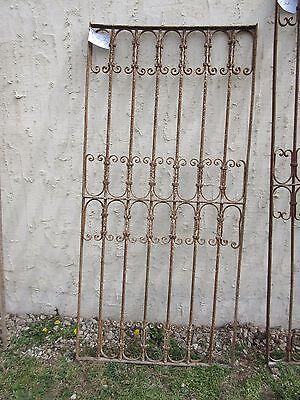 Antique Victorian Iron Gate Window Garden Fence Architectural Salvage Door #333 5