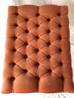 Vintage Regency Chesterfield Style Reproduction Pink Velvet Footstool Gilt Legs 5