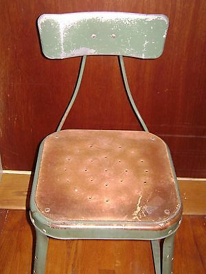 Antique Green Industrial Metal Machinist Stool Pinterest Repurpose 2