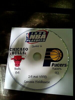 NBA Playoffs 1998 DVD Michael Jordan Bulls vs Pacers 6