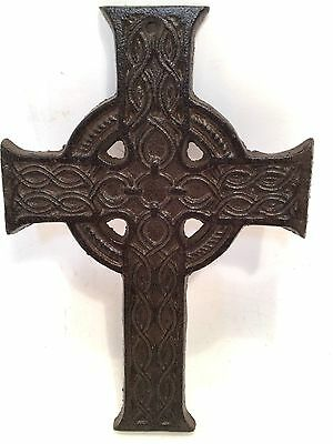 Cross Crucifix Cast Iron Wall Hanging New Vintage Embellishment Home Decor 2
