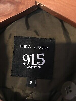 NEW LOOK ( 915 Generation ) girls green bomber jacket age 9 years 6
