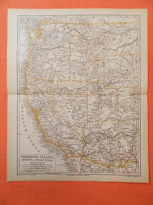 Vereinigte Staaten  Mississippi Stiller Ozean  Atlantischer Ozean 3x Karte 1878