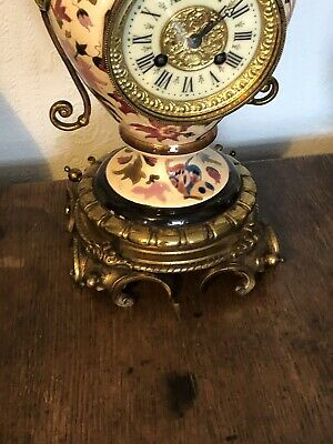 Antique French Ceramic Clock Set With Fantastic Candelabra 6