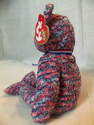 TY Beanie Babies Red White & Blue Bear** USA ** 6th Generation New w/ Tag