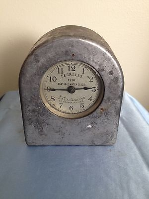 Vintage Peerless 1916 Portable Watch Clock Movement Mfgd By Seth Thomas 2