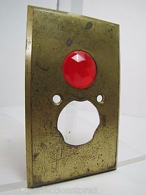 Antique Architectural Red Jeweled Glass Electrical Switch Cover Outlet Hardware 2