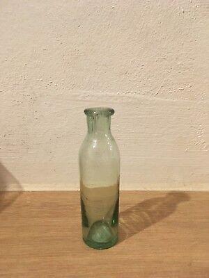 Antike Mundgeblasene kleine Flasche aus Glas