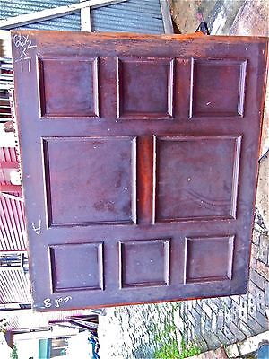 "Tiger Oak wood  Wainscot  Architectural  Antique raised  panel 77 "" X  67"" 7"