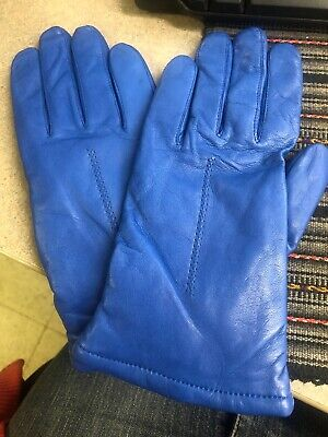 Women's Blue Gloves Wilson Leather Size L New With Tag 7