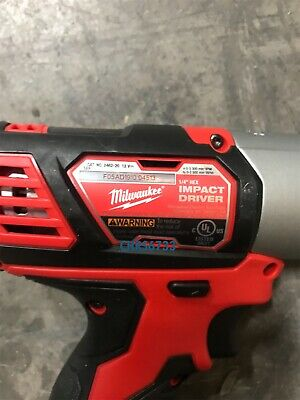 "Milwaukee Hex impact driver 2462-20 1/4"" M12 12V Lithium-ion 3"