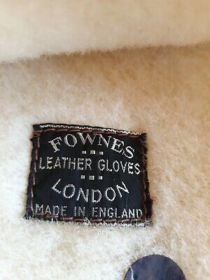 Vintage Fownes  Brown Leather Gloves, Wool Lined, Ideal For Vitage Motoring 6