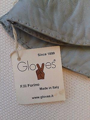 Guanti Donna in pelle col. carta da zucchero tg 6 Gloves Originali Lusso 3