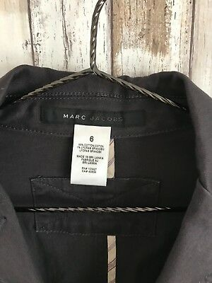 Marc Jacobs Gray Pleated Back 3 Button Blazer 6 S M Medium * CLASSIC!
