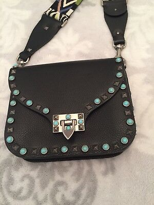 637b37decdad6 ... Valentino Rockstud Rolling Crossbody Bag With Guitar Strap 3