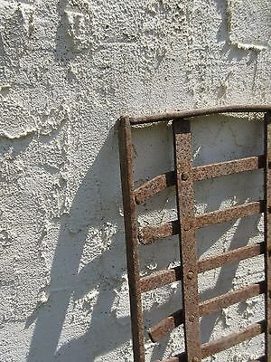 Antique Victorian Iron Gate Window Garden Fence Architectural Salvage Door #663 4