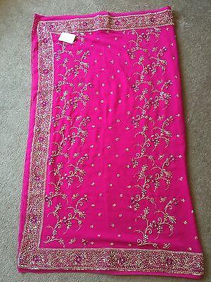 Saree- Bollywood Fashion Wedding Party Wear Heavy Designer Sari Indian Asian 2